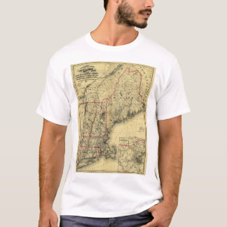 Map of New England and Surroundings (1860) T-Shirt