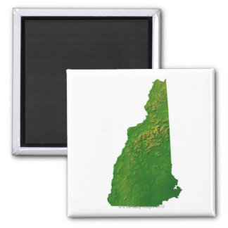 Map of New Hampshire Magnet