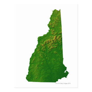 Map of New Hampshire Postcard