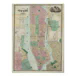 Map of New York and Vicinity Print