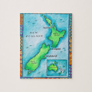 Map of New Zealand 2 Jigsaw Puzzle