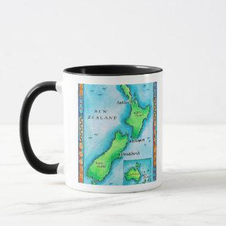 Map of New Zealand 2 Mug