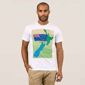 Map Of New Zealand Mens T-Shirt