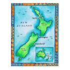 Map of New Zealand Postcard