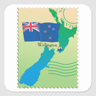 Map Of New Zealand Stickers