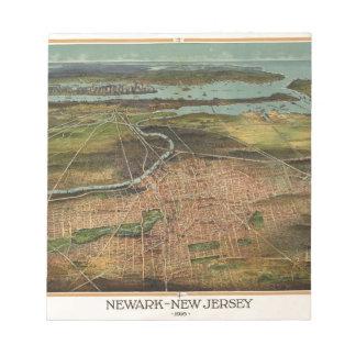 Map of Newark 1916 Notepad