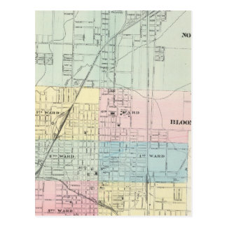 Map of Normal, Bloomington Postcard