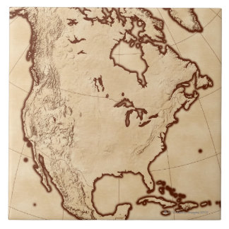 Map of North America 2 Tile