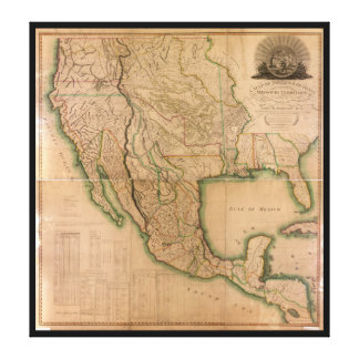 Map of North America Missouri Territory (1826) Canvas Print