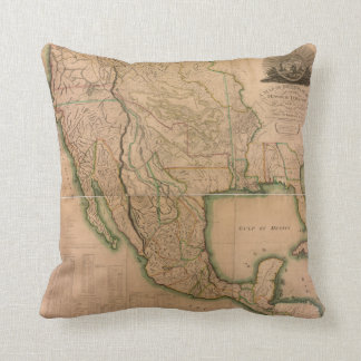 Map of North America Missouri Territory (1826) Throw Pillow