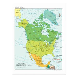 Map of North-America Postcard