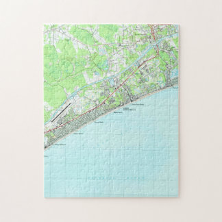 Map of North Myrtle Beach South Carolina (1990) Jigsaw Puzzle