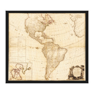 Map of North & South America (1786) Canvas Print