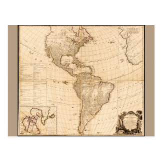 Map of North & South America (1786) Postcard
