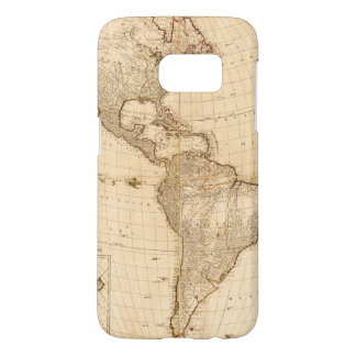 Map of North & South America (1786) Samsung Galaxy S7 Case