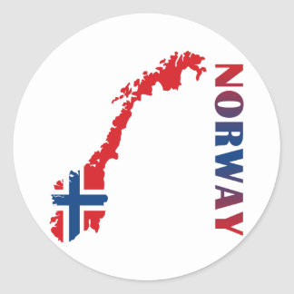 Map Of Norway Classic Round Sticker