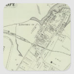 Map of Oceanport, NJ Square Sticker