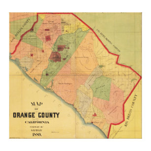 graphic relating to Printable Map of Orange County Ca titled California Map Canvas Prints Wall Artwork Zazzle.ca