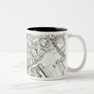Map of Oxford, 1643 Two-Tone Coffee Mug