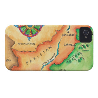 Map of Pakistan iPhone 4 Case-Mate Cases