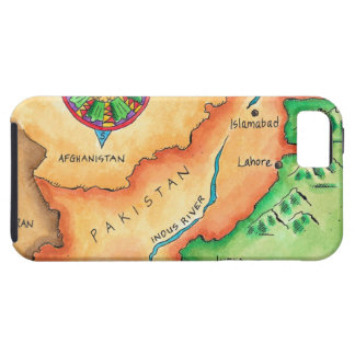Map of Pakistan iPhone 5 Case