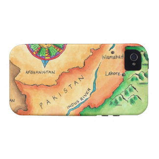 Map of Pakistan iPhone 4 Covers
