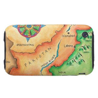 Map of Pakistan iPhone 3 Tough Case
