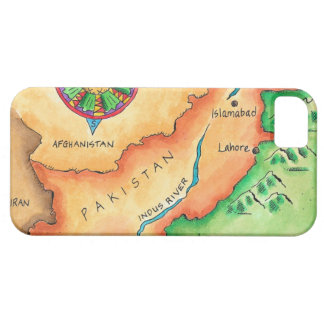Map of Pakistan iPhone 5 Covers