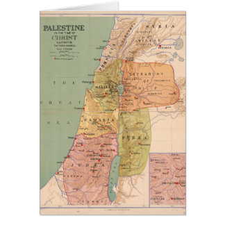 Map of Palestine in Time of Christ (to 70 A.D.) Card