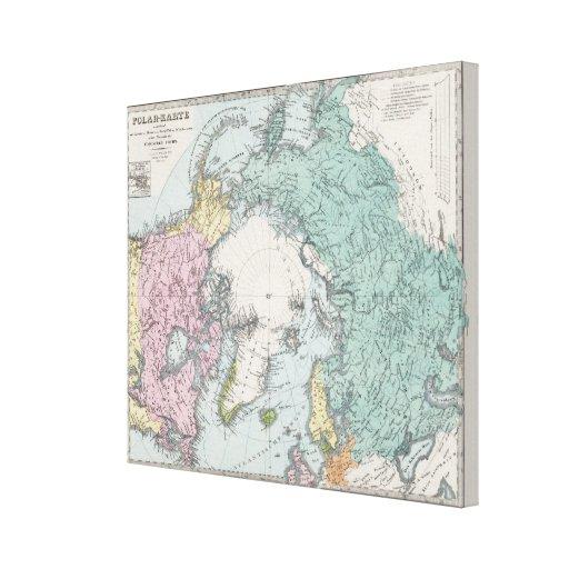 Map of Polar Seas Gallery Wrap Canvas