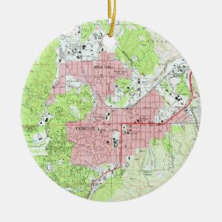 Map of Prescott Arizona (1973) Ceramic Ornament