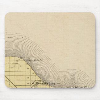 Map of Presque Isle County, Michigan Mouse Pad