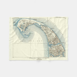 Map of Provincetown Cape Cod Massachusetts Fleece Blanket