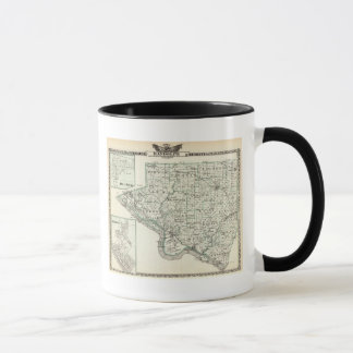 Map of Randolph County, Red Bud and Chester Mug