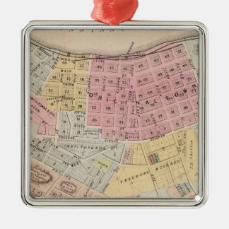 Map of Red Wing, Goodhue County, Minnesota Metal Ornament