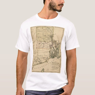 Map of Rhode Island by Carl Ernst Bohn (1797) T-Shirt