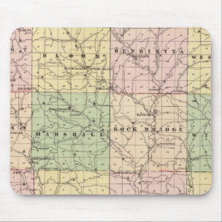 Map of Richland County, State of Wisconsin Mouse Pad