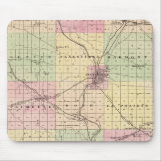 Map of Rock County, State of Wisconsin Mouse Pad