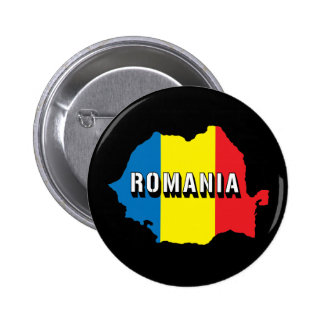 Map Of Romania 2 Inch Round Button