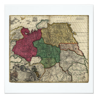 Map of Russia (1704) Card
