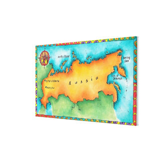 Map of Russia Canvas Prints