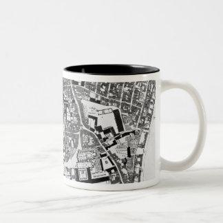 Map of Sainte-Genevieve area, Paris, 1756 Two-Tone Coffee Mug