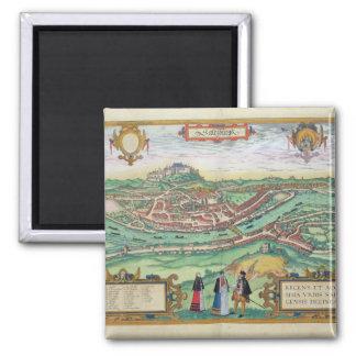 Map of Salzburg, from 'Civitates Orbis Terrarum' b Magnet