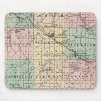Map of Sauk County and Kilbourn City Mouse Pad