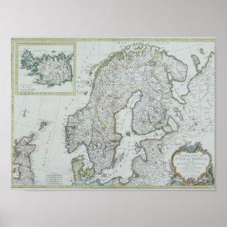 Map of Scandinavia Poster