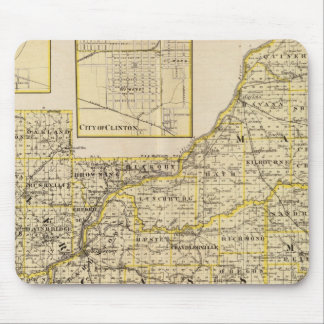 Map of Schuyler, Mason, Brown Mouse Pad