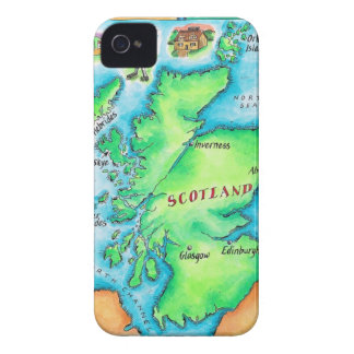Map of Scotland iPhone 4 Cover