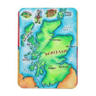 Map of Scotland Magnet