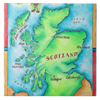 Map of Scotland Tile