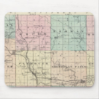 Map of Sheboygan County, State of Wisconsin Mouse Pad